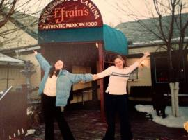 This was the first picture ever taken of us. We are very excited about that Mexican Restaurant.