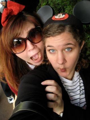 Us at Disneyland sophomore year of college.