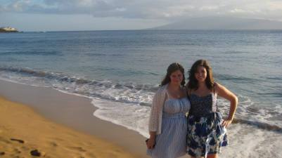 Us in Hawaii just after college graduation in May 2010.