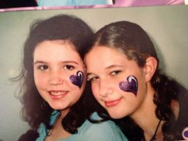 This was Rachell's first face paint ever! We were at the Stock Show in the 6th grade.