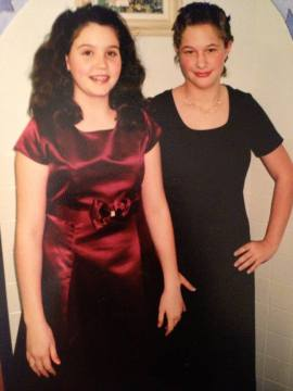 Us dressed up for a banquet in the 7th grade.